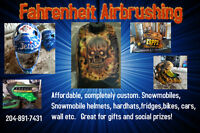 Custom Airbrushing of helmets and tanks etc.