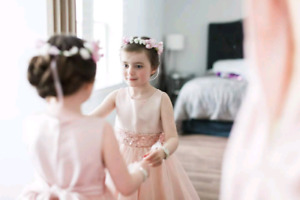 Flower girl dresses and Floral Crowns