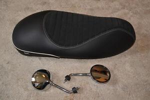 Vespa genuine solo comfort seat and shorty mirrors