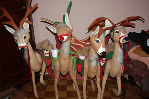 Collection of Vintage Annalee Xmas Dolls