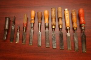 Old Wood Chisels-Mibro, Marples, AST, Hoppe, Ardex, Sorby etc