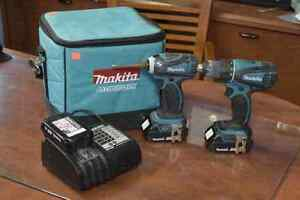 **GREAT CONDITION** Makita DDF466/DTD146 Drill Set + 3 Batteries