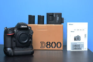 Nikon D800 + grip MB-D12 + 2 batteries EN-EL15