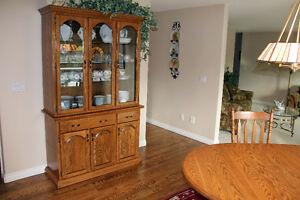 Complete Oak Dining Set