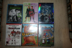 DISNEY Movies DVD $15 each FROZEN Garfield GNOMEO AND JULIET Fre
