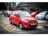 2013 63 HYUNDAI I10 1.2 Active 5dr in Electric Red