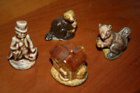 4 Red Rose Tea Figurines (House that Jack Built)