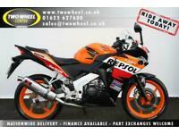 Honda CBR125 R Repsol | 63 Reg | Tasteful extras | Black Widow full exhaust |
