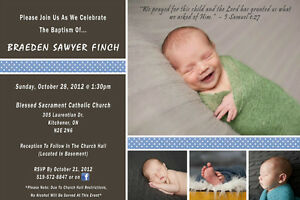 Baby birth announcements, shower invites, baby info pictures Kitchener / Waterloo Kitchener Area image 3