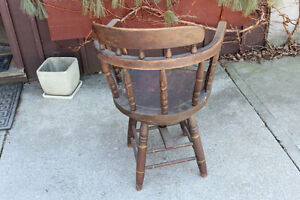 Antique Swivel Captain's Chair London Ontario image 4