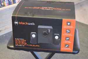 **NEW IN BOX** BlackWeb 2.1 USB Speaker System