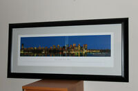 Beautifully Framed Large New York Skyline Art Print