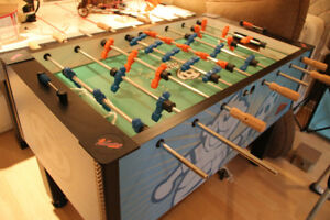 Brunswick CrossFire Foosball Table Signed by Donovan Bailey