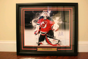 Martin Brodeur Autographed 20X24 Framed Photo With Steiner COA