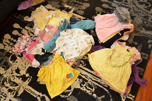 Large Lot of girl clothing from 3 months to 9 months