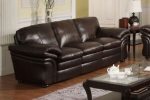 Belladonna Amax Leather sofa, super comfy, in stock,NEW