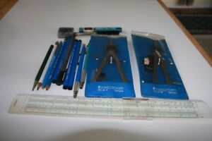 Lot Assorted Architect Drafting Drawing Tools