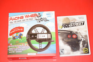 Wii Need for Speed ProStreet game & Racing Wheel Wii/WiiU