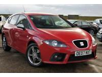 SEAT LEON 2.0 FR TDI 5D 170 BHP IMOLA RED FULL SERVICE HISTORY + JUST SERVICED