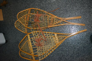 Traditionnal snowshoes - raquettes à neige traditionnelles