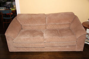 Suede Sofa with pullout Bed