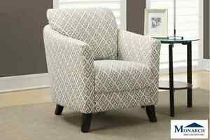 Brand New Sandstone Grey Accent Chair! Call 902-481-9105!