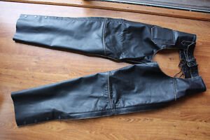 River Run Ladies Leather Motorcycle Chaps