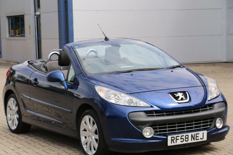 peugeot 207 cc convertible cabriolet 2008 diesel manual in blue in high wycombe. Black Bedroom Furniture Sets. Home Design Ideas