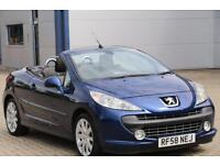PEUGEOT 207 CC CONVERTIBLE CABRIOLET 2008 Diesel Manual in Blue