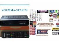 Zgemma h2s satellite box with 12 months subs guarantee