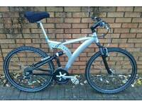 Handbuilt, All Aluminium, Full Suspension Mountain Bike, One of a kind.