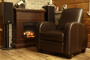 Fauteuil causeuse divan inclinable 1 place cuir leather lazyboy