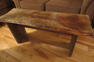 Live edge ash rustic coffee table or bench