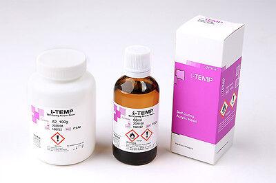 Dental I-dental I-temp Self Curing Acrylic Resin Set Powder Liquid