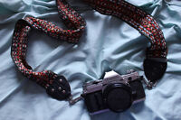 canon ae-1 film camera with 50mm lens