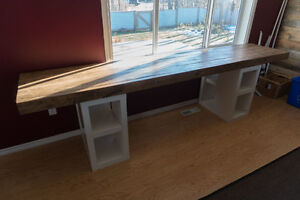 Custom made Desk/Table top with legs