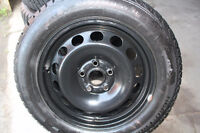 215/55/16 GISLAVED NORD FROST WINTER TIRES on RIMS -like new