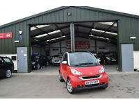 2010 Smart fortwo 1.0 AUTOMATIC PETROL Semi-A Passion RED LOW MILEAGE NEW MOT