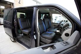 MINICAB/TAXI CAR LEATHER SEAT COVERS MERCEDES VITO FORD TRANSIT VW CADDY RENAULT TRAFFIC VIVARO