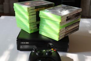 Console XBOX 360 S 250 GB avec 20 jeux et 1 manette