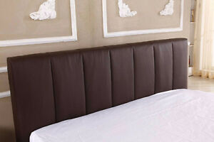 Queen Faux Leather Bed Frame & Mattress