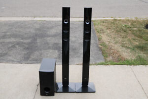 LG Tower Speakers and Sub