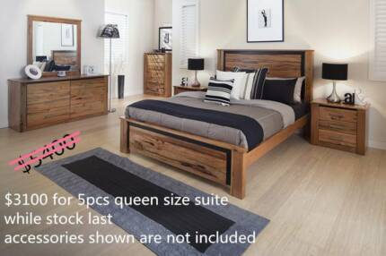 FACTORY PRICE- SOLID AU HARDWOOD QUEEN BED KING BEDROOM SUITES