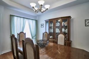 Solid wood diningroom set