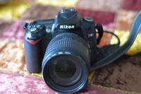 Nikon D90,18-105mm lens, 16GB, small backpack, remote, etc.