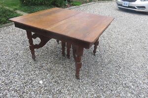 Antique  table, with 4 extra sections for sale