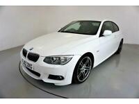 2013 BMW 3 Series 3.0 325D M SPORT 2d-2 OWNER CAR-BLACK DAKOTA LEATHER-REAR PARK