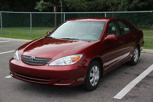 2002 Toyota Camry LE Sedan, Only 31,100 km, SUPER CLEAN.