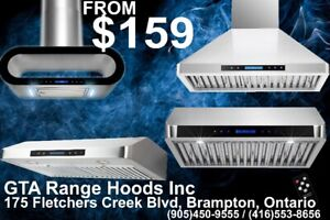 GTA Range Hood Undercabinet Wall Mount Chimney on sale From $159