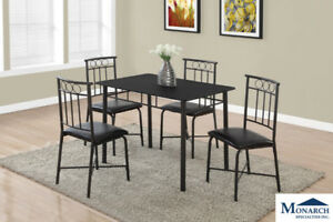5PC Black Dinette Set